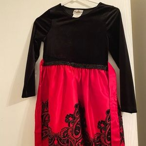 Girls size 8 holiday dress rare editions brand